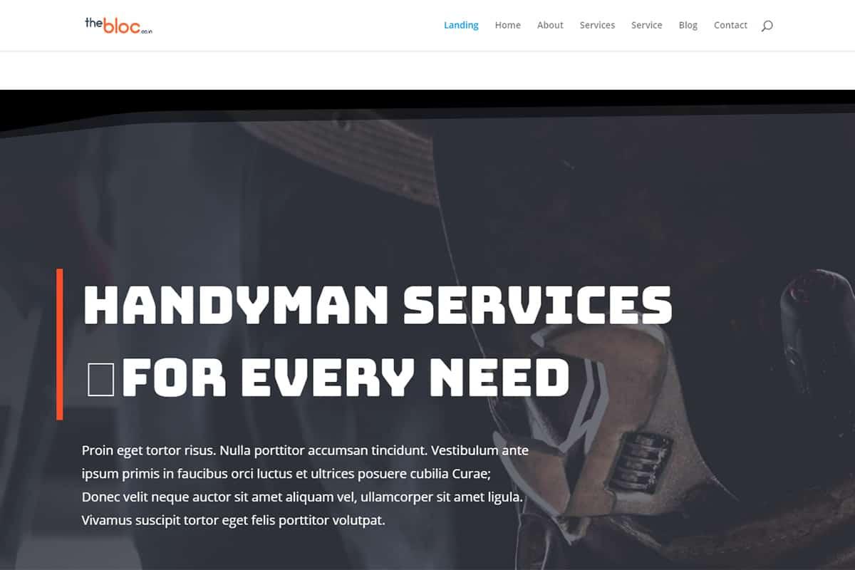 Handyman Demo