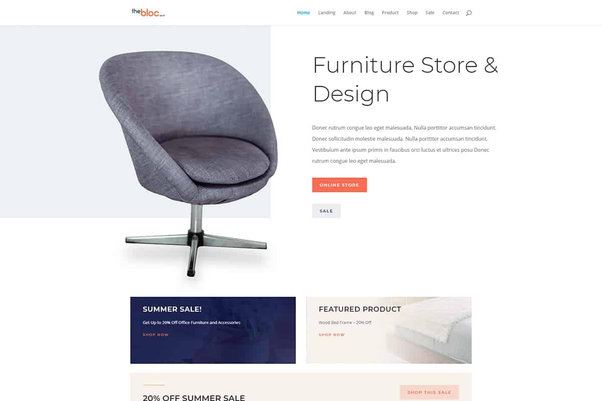 Furniture Store Demo