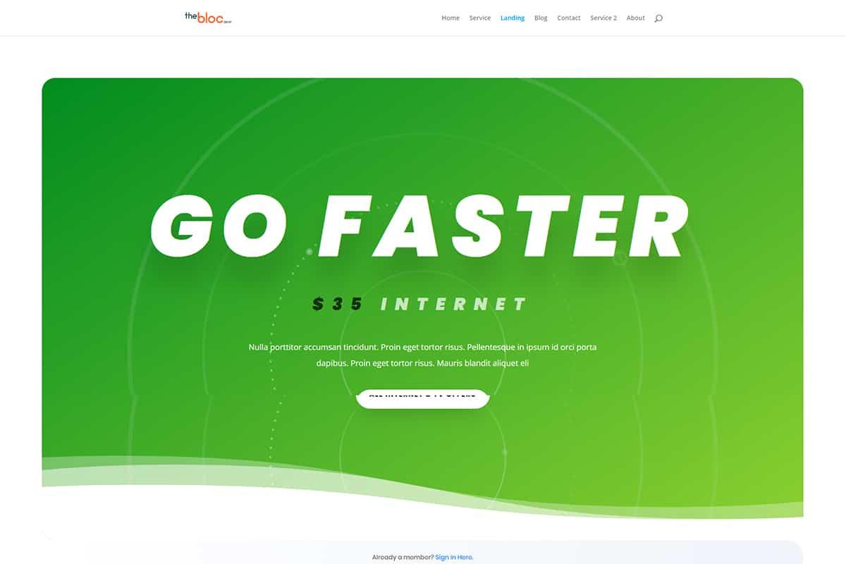 Internet Service Provider Demo