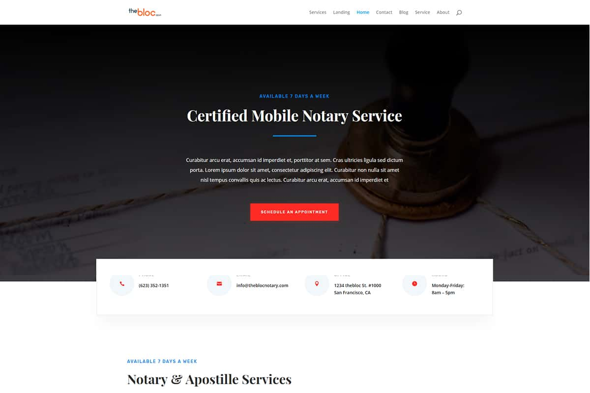 Notary Public Demo