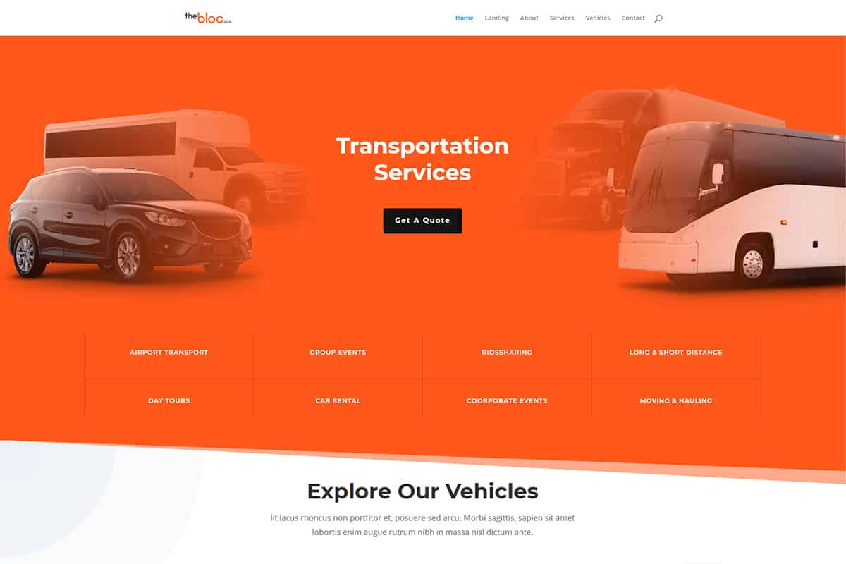 Transportation Services Demo