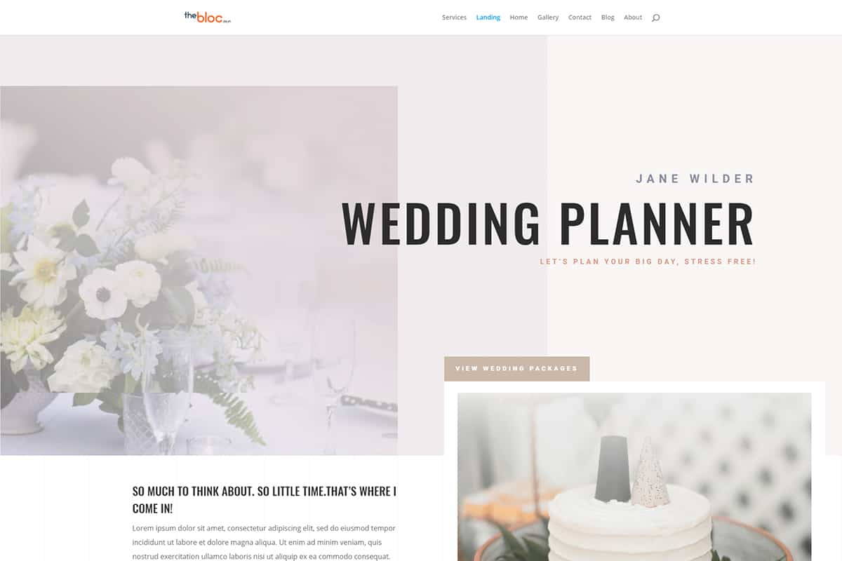 Wedding Planner Demo